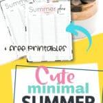 Minimal summer planner Pinterest image