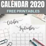 Elegant 2020 Calendar - free printables | Pretty printable | Planner sheet | Planning & Organizing | 2020 Calendar | Black & white calendar | Minimalistic & simple | SaturdayGift | Saturday gift #SaturdayGift