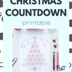 Fanciful Christmas Countdown Printable. Perfect addition to your planner or use it as is.