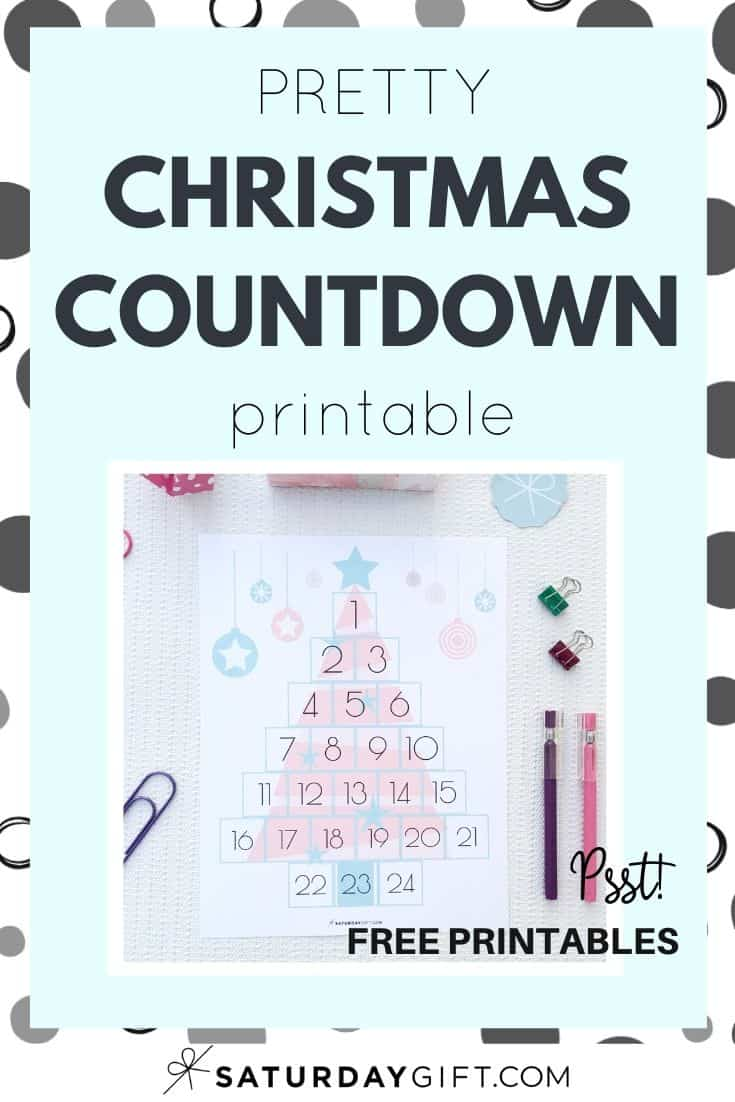 Want to have a cute way of showing how many days there are until Christmas. This Fanciful Christmas Countdown printable is a perfect addition to your planner or you can use it as-is on the fridge door or even frame it. Click to post and grab this Christmas countdown printable and start the countdown to Christmas. And the best part is, it\'s a gift (aka free). #Christmas #printables #countdown #pretty