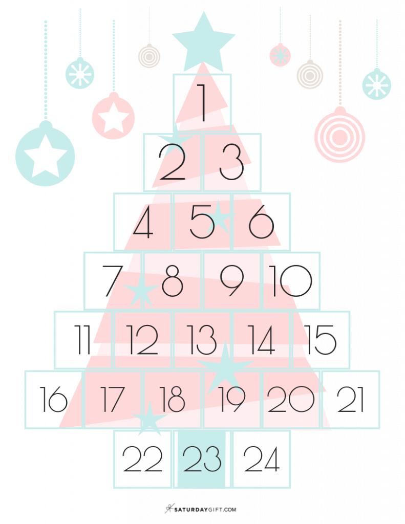 Fanciful Christmas Countdown - free printable | 25MerryDays | Advent Calendar | Christmas Printables | Pretty and elegant | Pretty Printables | Christmas Countdown | SaturdayGift | Saturday gift #Saturdaygift #25merrydays