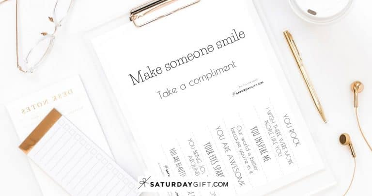Free Compliments – Make someone smile {Free Printable}