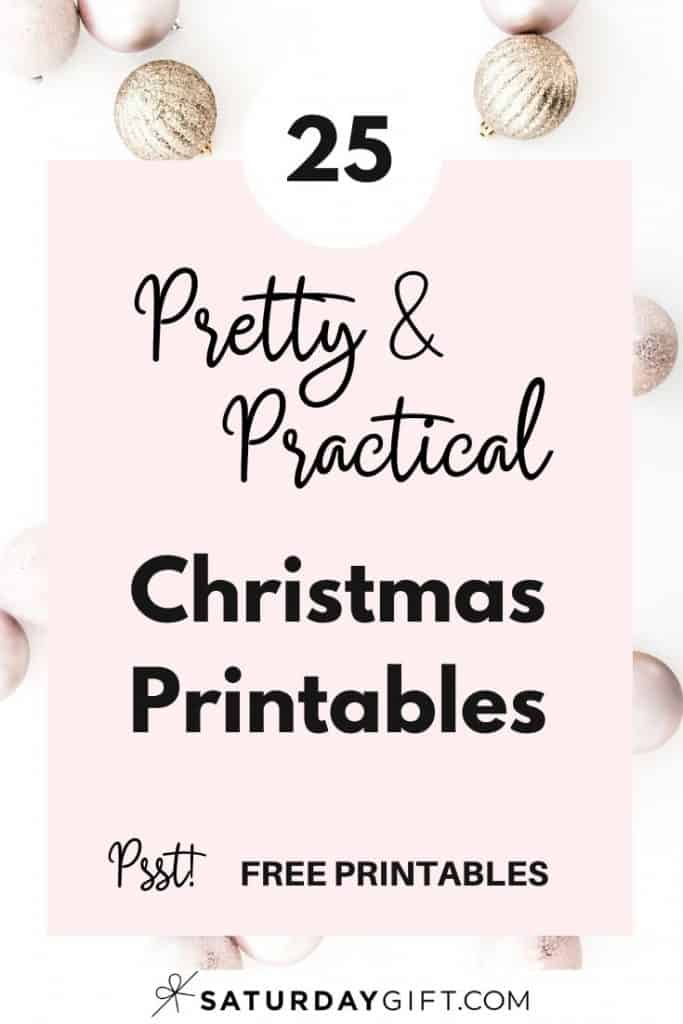 Want to simplify your holidays with checklists and find joyful and pretty printable gift tags, games, food tags and so much more? Super! Here are 25 free feel good Christmas printables that'll bring joy and clarity to your Holiday planning! Enjoy!