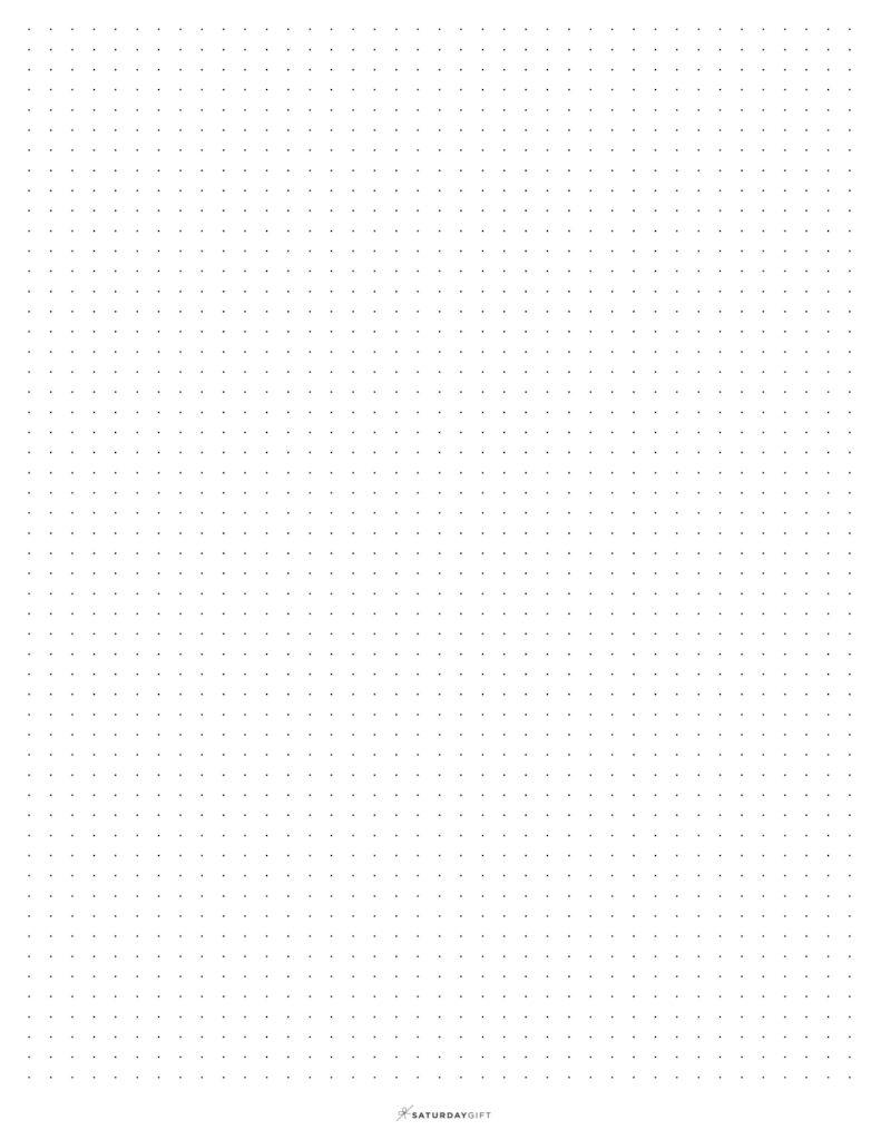 Free printable Dot Grid Paper grey dots | SaturdayGift