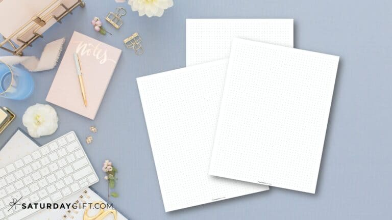 Free Printable Dot Grid Paper for Bullet Journal – Multiple Sizes