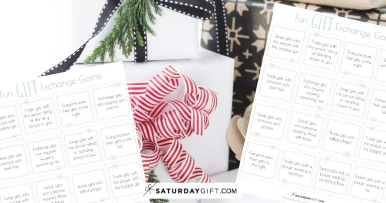 How to Organize a Fun Gift Exchange Game {Free Printables}