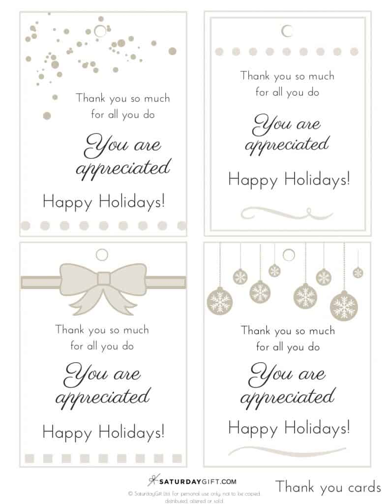 Gratitude Holiday Gift Tags - free printable | Advent Calendar | Printables | Gift tags | Secret Santa | SaturdayGift | Saturday gift #Saturdaygift #25merrydays