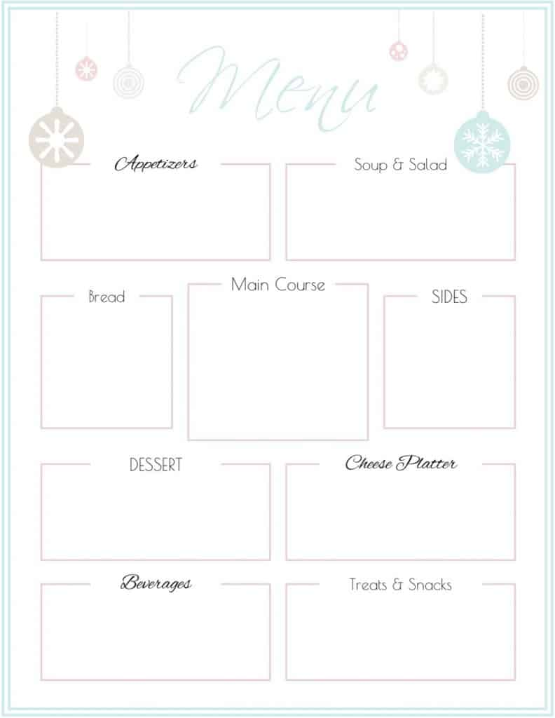 photograph about Menu Printable identify Trip Occasion Menu Template Cost-free Printable SaayGift