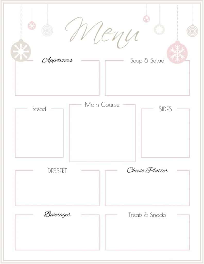 This is an image of Candid Menu Template Free Printable
