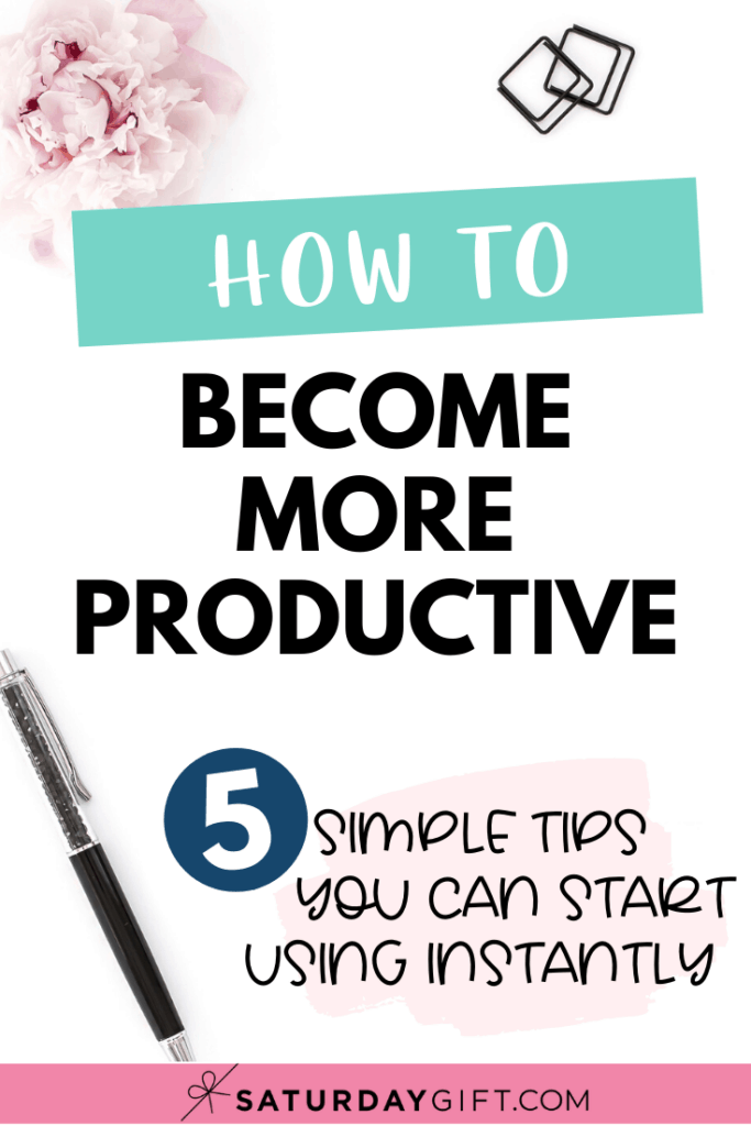 How to become more productive Pinterest Pin