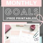 Achieve your mini-goals easily with the monthly goals planner + calendar