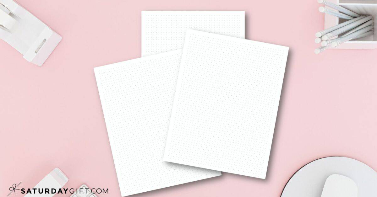 How to make dot grid paper in multiple sizes using Google Sheets Featured Image | SaturdayGift