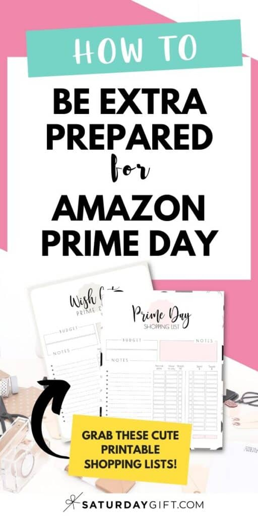 How to prepare for Prime Day + Printable Shopping List Pinterest Image