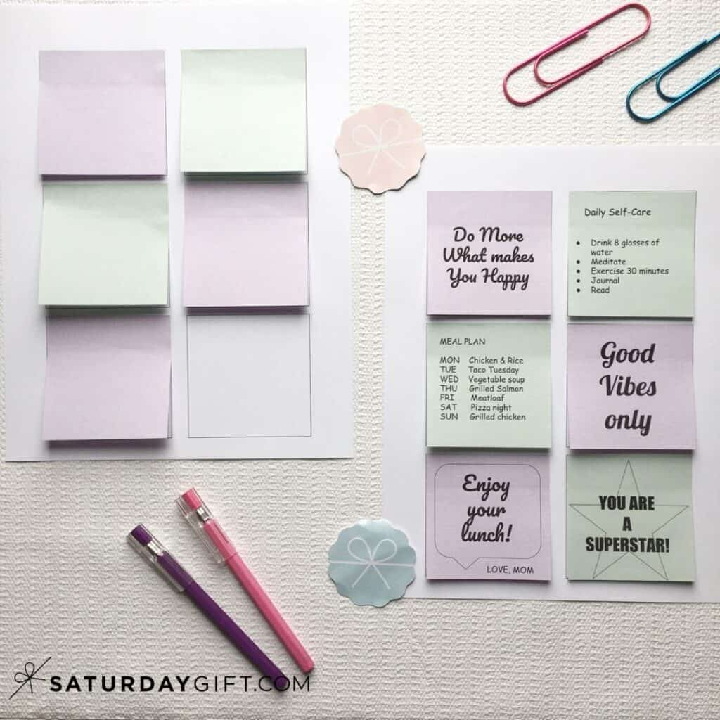 Your customized Post-it notes after printing| SaturdayGift