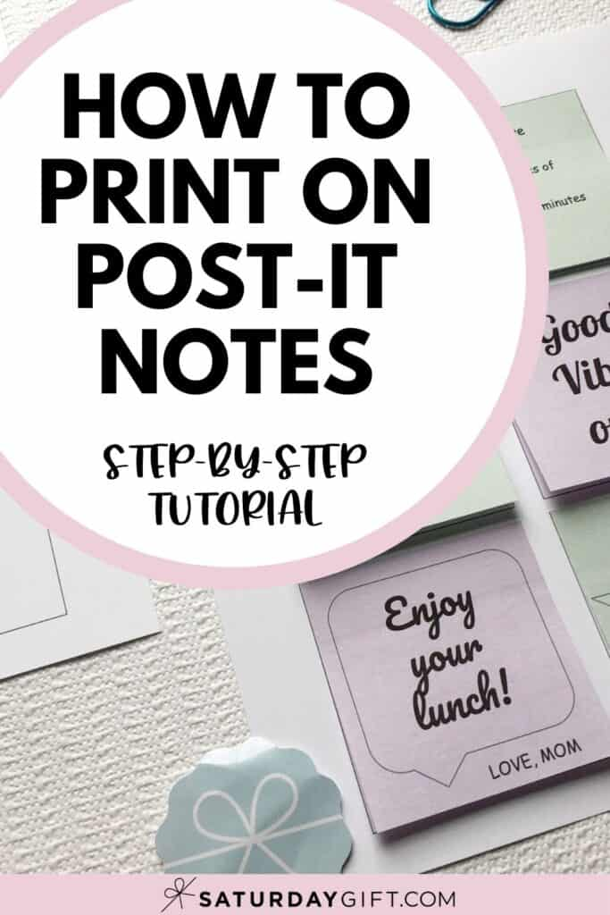How to print on post-it notes step-by-step instructions Pinterest Pin by SaturdayGift