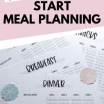 Super simple meal planning method Pinterest Pin by SaturdayGift