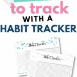 Daily habit tracker Pinterest Image