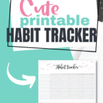Cute printable habit tracker Pinterest Image