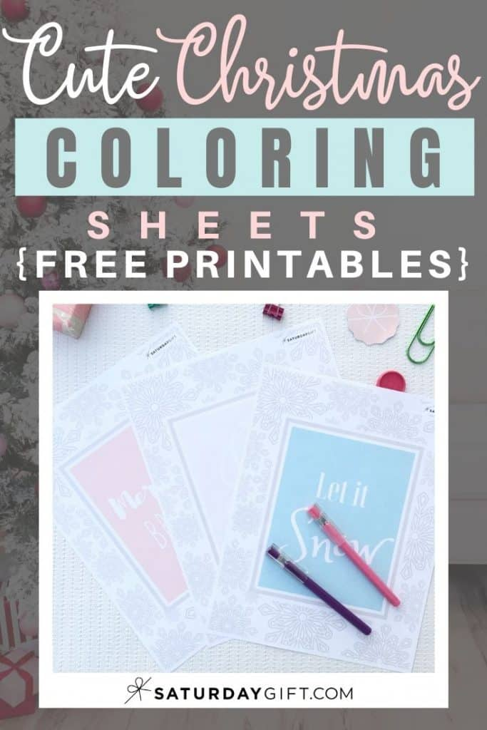 Want to do some relaxing coloring? Here are some joyful holiday coloring sheets. Free printables with sayings: Let it snow, Merry & Bright and Joy to the World.