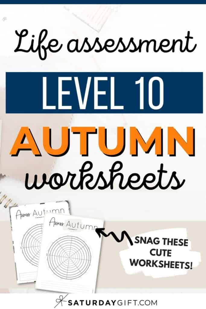Autumn wheel of life worksheets to assess your life