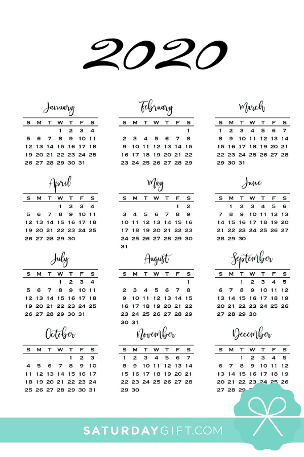 graphic regarding Calendar 2020 Printable known as Low One particular Webpage Calendar for 2019 2020 Cost-free Printables