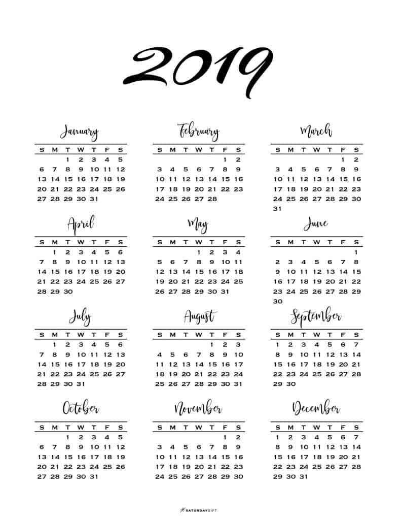 photo about Printable Calendar on One Page referred to as Minimum 1 Webpage Calendar for 2019 2020 Absolutely free Printables