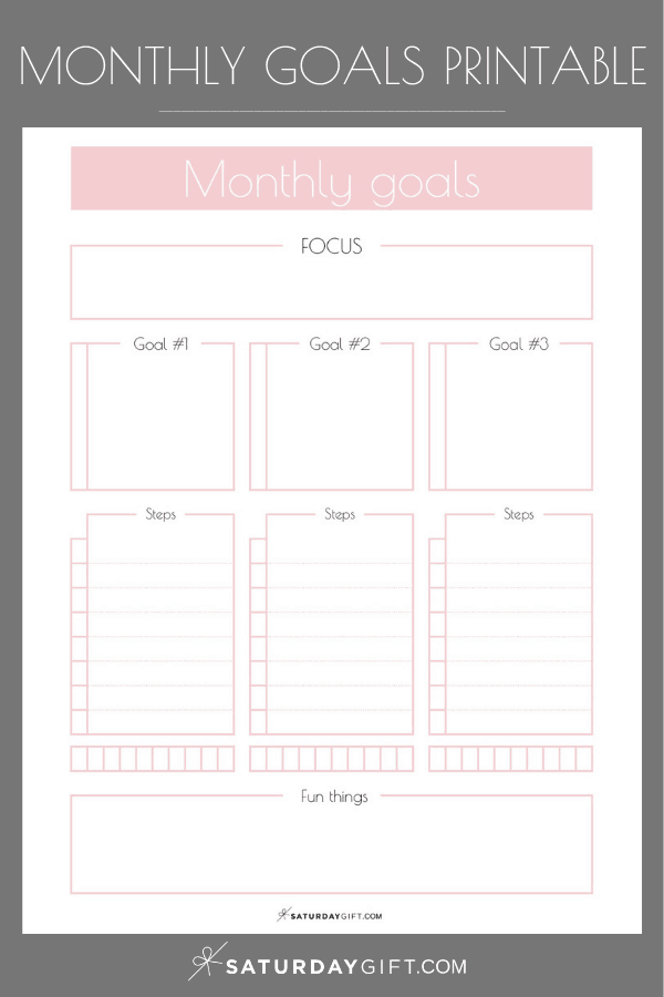 image about Free Printable Planners titled Month to month Ambitions Planner No cost Printables SaayGift