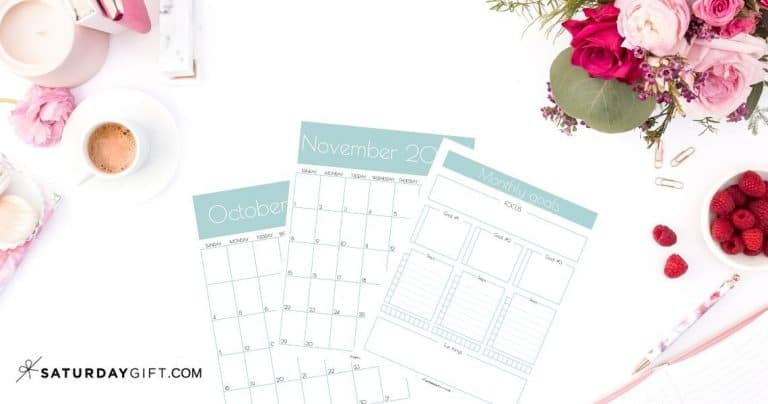 Pretty & Practical Monthly Goals Template and Calendar 2022