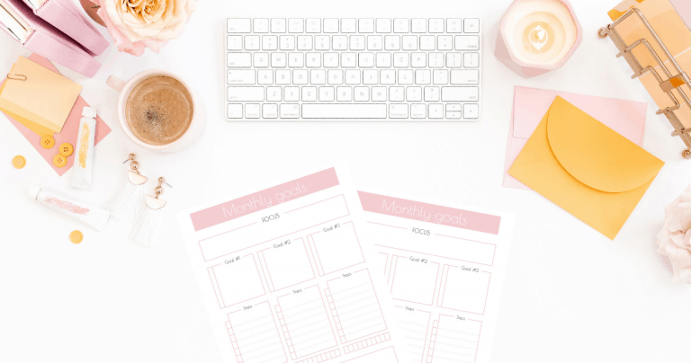 Printable Monthly Goals Planner + Calendar 2022 – How to Set Your Mini-Goals Each Month