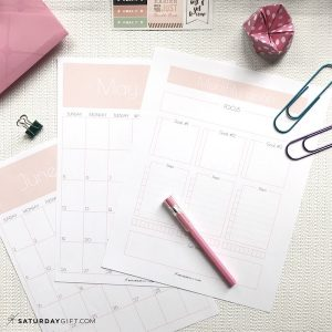 Monthly goals worksheets and calendar sheets Light Pink | Plan and achieve your monthly goals with the monthly goals planner free printable. | Planner insert | Goal Planning | Goal setting | Goal Achieving | Goal getter | Self Development | Personal Growth | How to set goals | How to achieve goals | SaturdayGift | Saturday gift #SaturdayGift