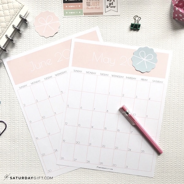 Monthly goals calendar sheets Light Pink | Plan and achieve your monthly goals with the monthly goals planner free printable. | Planner insert | Goal Planning | Goal setting | Goal Achieving | Goal getter | Self Development | Personal Growth | How to set goals | How to achieve goals | SaturdayGift | Saturday gift #SaturdayGift