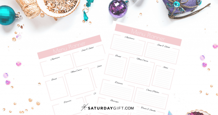 Pretty & Practical Party Menu Planner {Free Printable}
