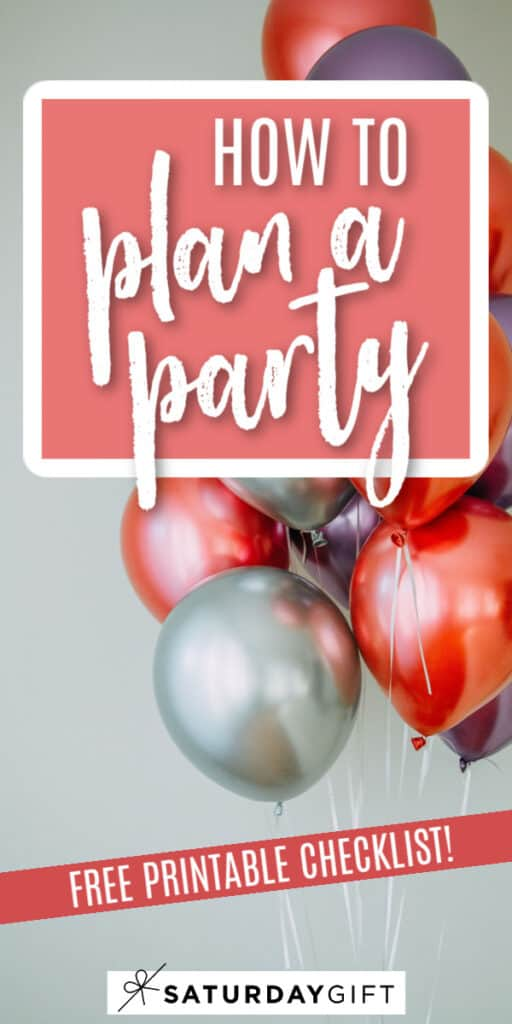 Pretty (and helpful!) printable party planning checklist {Free printable}