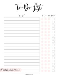 Pomodoro Technique PDF Focus To Do List | SaturdayGift