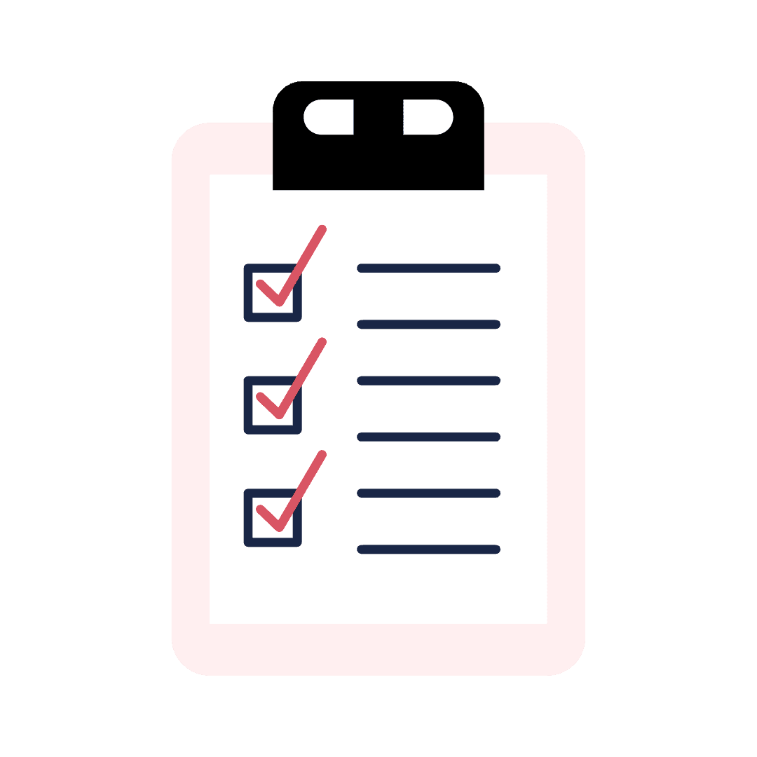 Image of a pink checklist