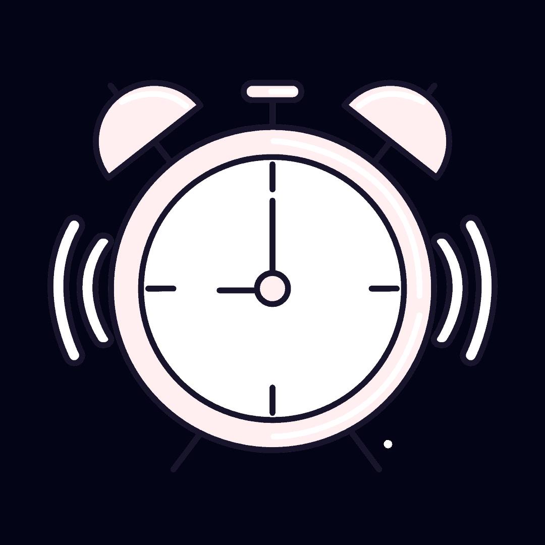 Image of a ringing alarm clock