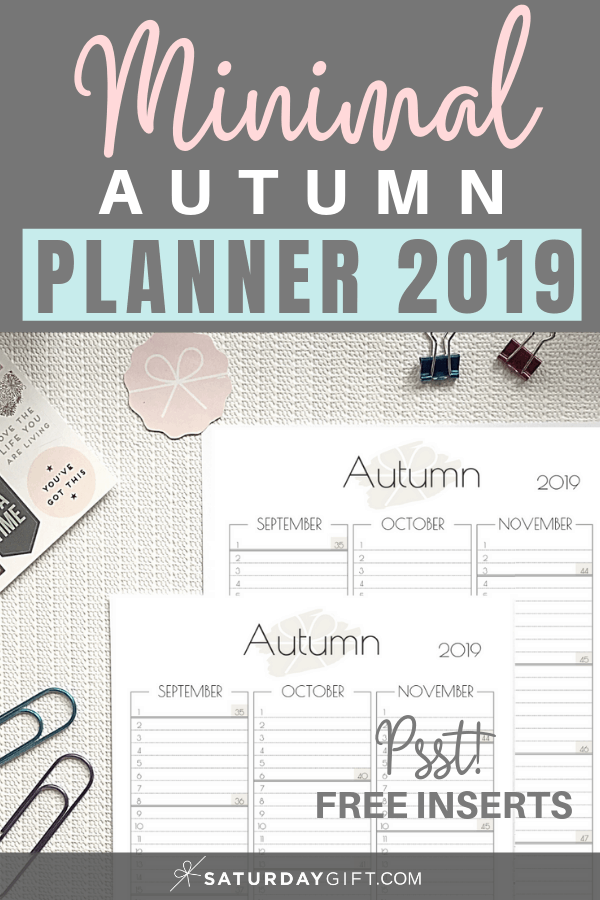 photograph relating to Free Printable Organizing Sheets named Autumn Planner Sheet For September, Oct November 2019