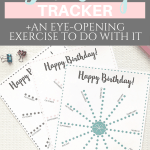 Pretty Birthday Tracker {Free Printable} | Planner page | Planner insert | Binder insert | Pretty printable | Plan & Develop | Letter size | Self care | Self Development | Personal Development | Planner sheet | SaturdayGift | Saturday gift #SaturdayGift