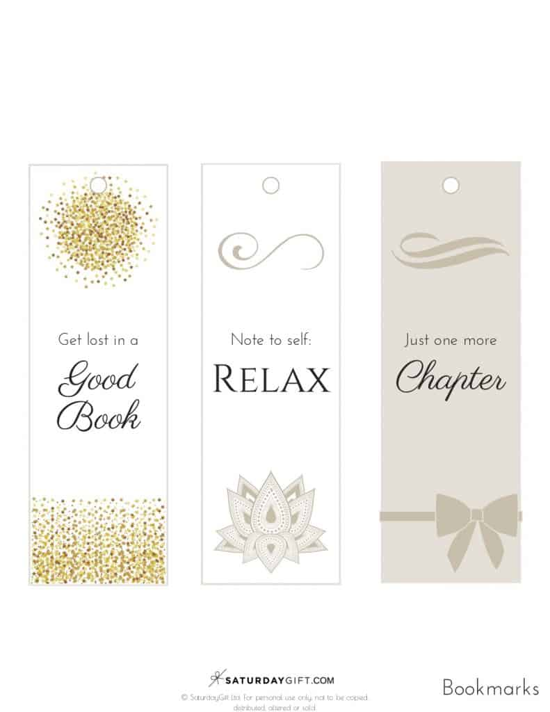 Pretty Printable Bookmarks - free printable | Get lost in a good book | Note to self relax | Just one more chapter | Feel good printables | Pretty Printables | Free printable | Tags and Labels | Bookmarks | SaturdayGift | Saturday gift #SaturdayGift