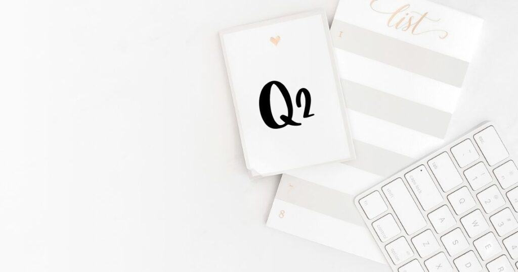Pretty printable productivity pack for Q2 to set and achieve your goals