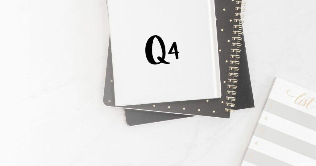 Pretty printable productivity pack for Q4 to set and achieve your goals