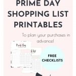 Want to plan ahead your Prime Day shopping, save money and make sure you won't purchase things you didn't plan to buy? Super! Here's a pretty and practical Prime Day Shopping List Printable set that'll help you stay focused with all the amazing deals!