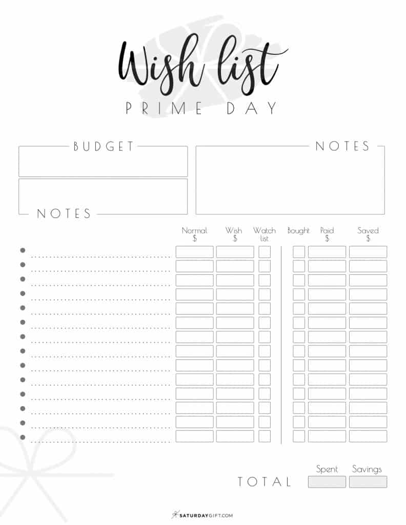 Prime Day Wishlist {Free printable} | Amazon Prime Day Deals for Quality Shopping | Awesome deals | Quality over quantity | Savvy and smart | SaturdayGift