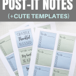 How to print on post-it notes step-by-step instructions Pinterest Pin