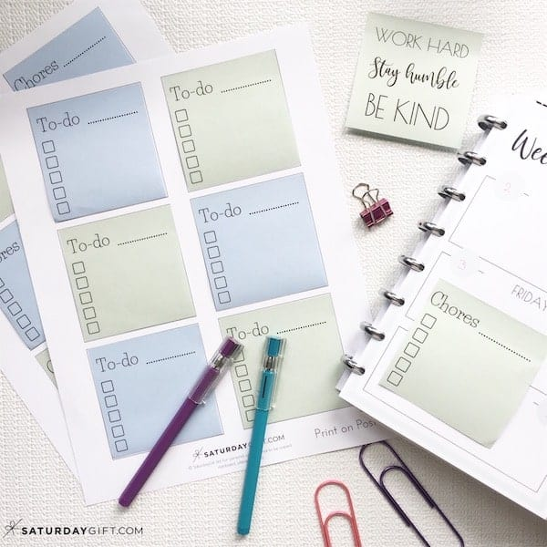 photograph about Printable Post Its referred to as How Towards Print Upon Article-It Notes +Absolutely free Printable Templates