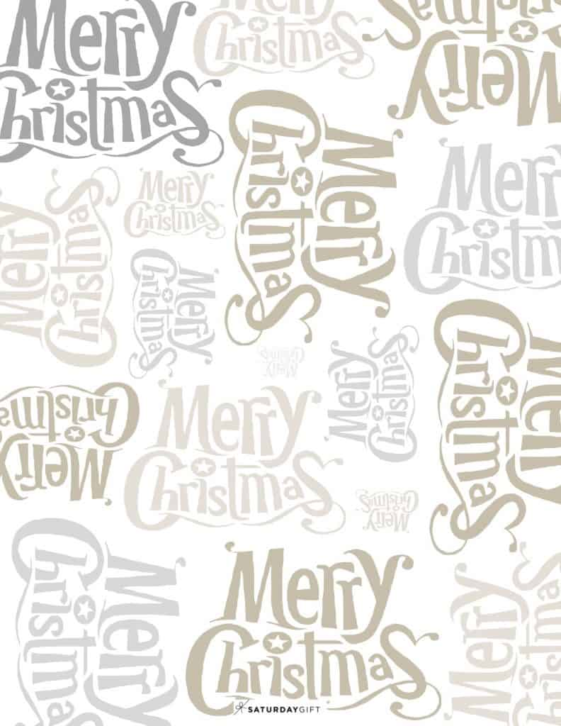 picture relating to Printable Christmas Wrapping Paper referred to as Printable Merry Xmas Wrapping Paper Free of charge Printable