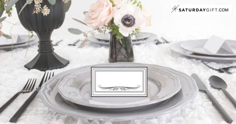 Printable Vintage Place Cards {Free Printables}