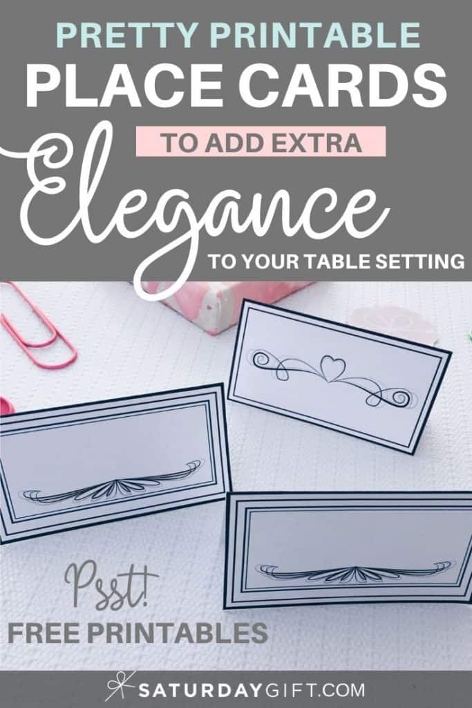 Bring some extra elegance to your table setting with these Printable vintage place cards - free printable.
