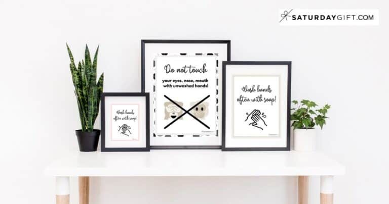 Printable Wash Hands Sign – Cute (& Free!) Wall Art Designs