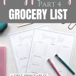 Printable grocery shopping list template {Free printables}